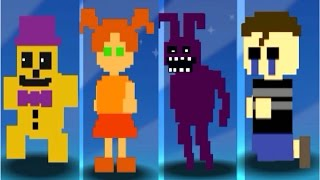 Super FNaF WORLD *New Characters* Gameplay #1