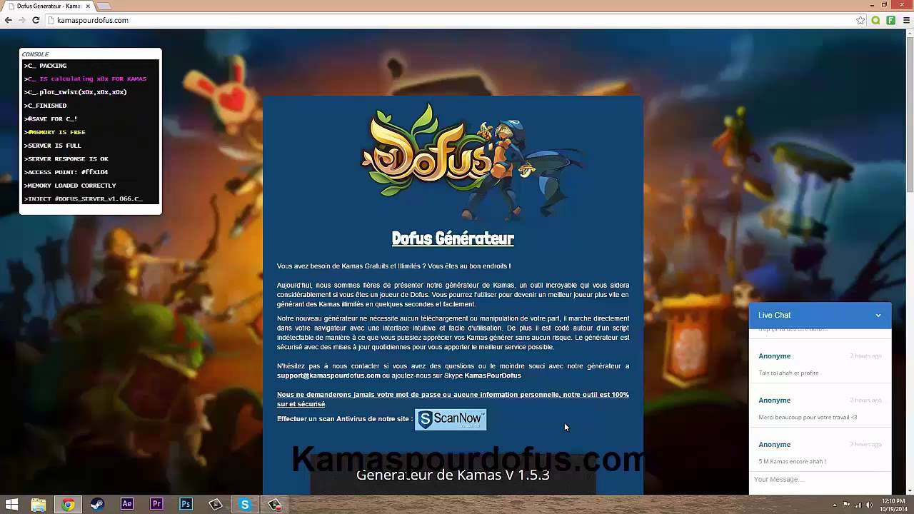 generateur de kamas dofus 2.0 gratuit