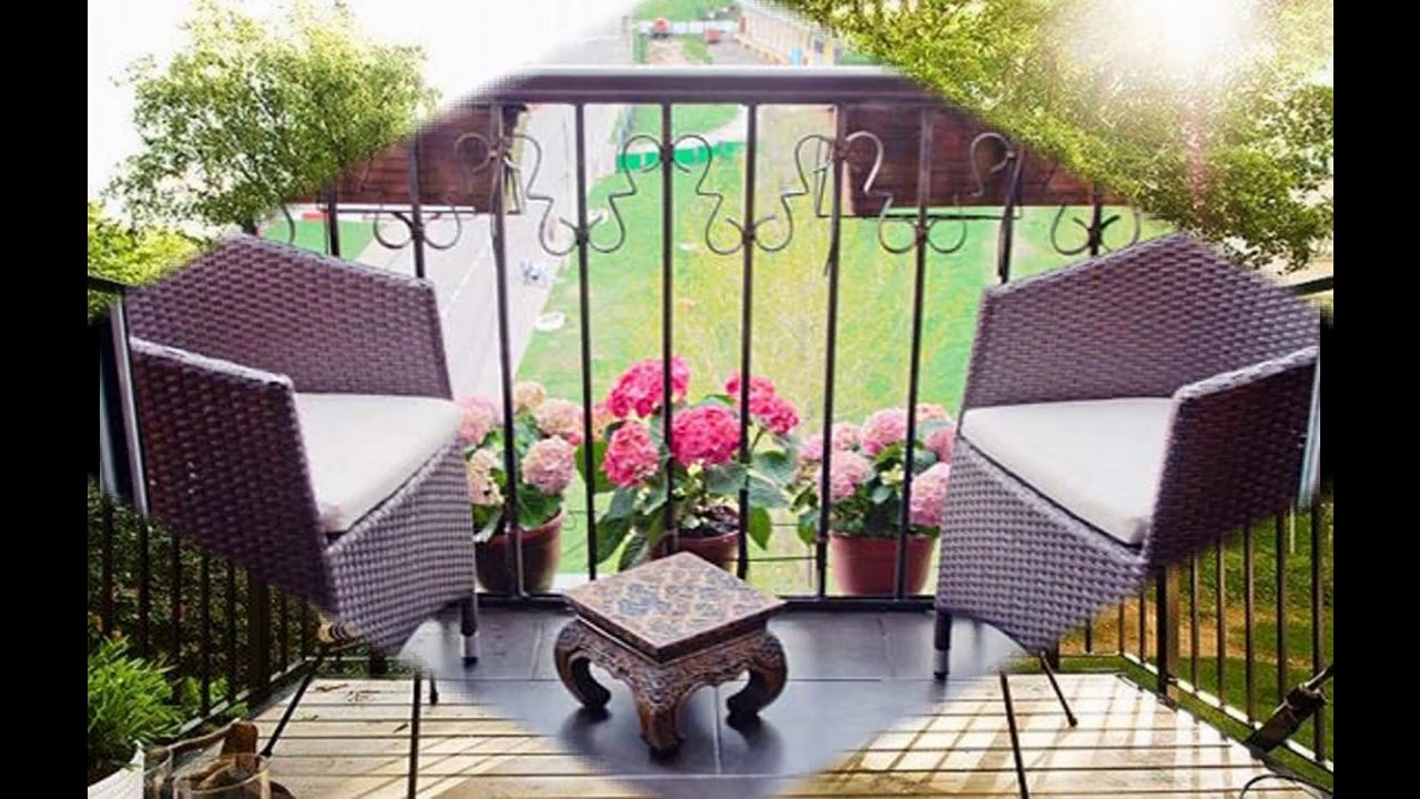 Muebles de patio para balcones peque os youtube for Muebles para patios interiores
