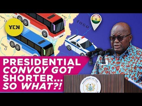 Ghana News Today: President Akufo-Addo's Convoy | #Yencomgh