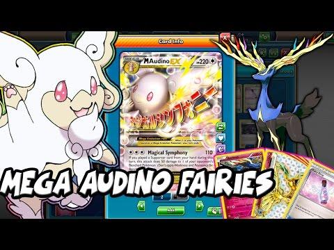 PTCGO Mega Audino EX Fairy Deck! Healing your Audino with Xerneas!(Pokemon TCG Online)