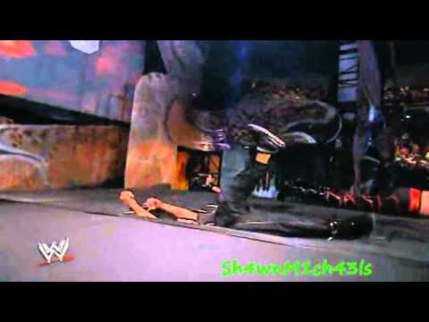 Shane McMahon Jumps From The Top Of The Stage HD Unforgiven 2003