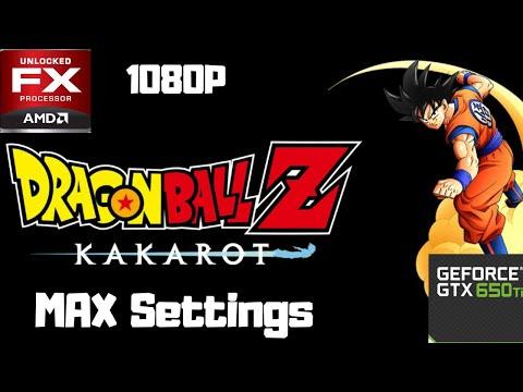 DRAGON BALL Z: KAKAROT - GTX 650 TI 1 GB + FX-6100   1080p  Gameplay  