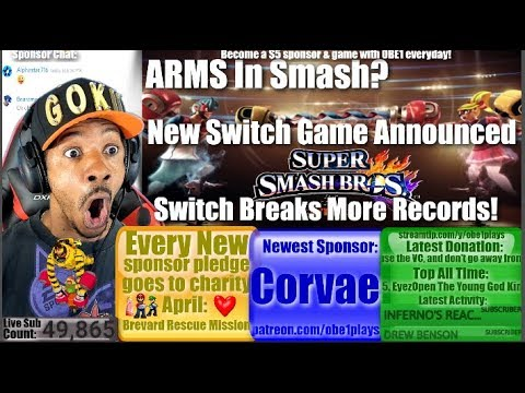 ARMS In Smash? New Switch Game Announced! Switch Breaks More Records! Nintendo Switch News!