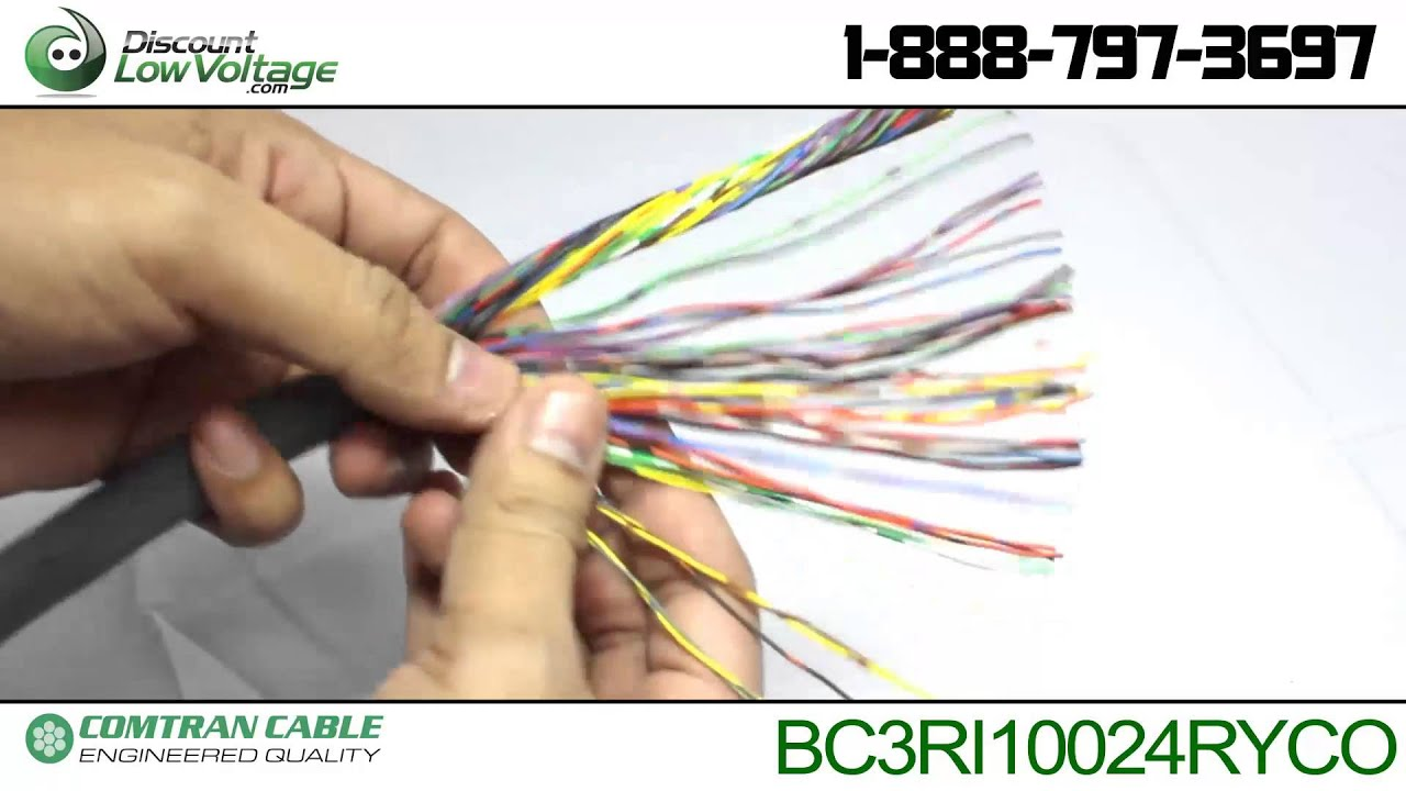 Bulk cat3 50 pair telephone cable pvc rated cut per foot youtube sciox Images