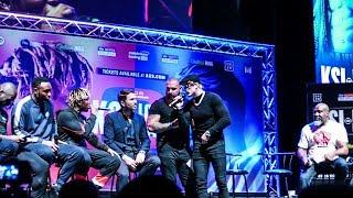 KSI vs Logan Paul 2 TEMPERS FLARE at FULL PRESS CONFERENCE LONDON | Eddie Hearn Boxing