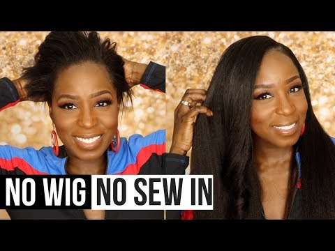 From SHORT To LONG In Mins. | 4C Natural Hairstyle | Affordable Kinky Blowout Clipins