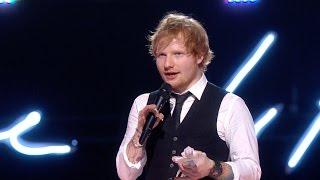 Ed Sheeran Wins MasterCard Album Of The Year   BRIT Awards 2015