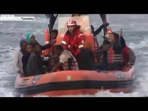 BBC News   Spain sees surge of migrants by sea from Morocco