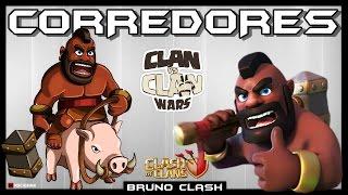 CORREDORES em Guerra contra CV9 FULL - Clash of Clans - Bruno Clash