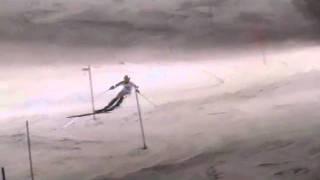 Herrar 16 andra åket i DM i slalom i Sundsvall 2011-02-22