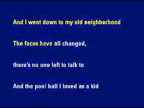 The Story of my life (Karaoke)-  Social Distortion