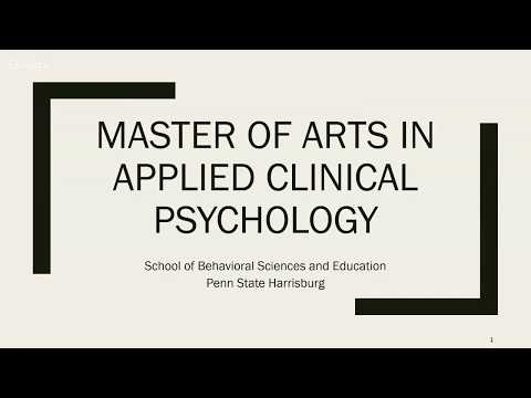 Master of Arts in Applied Clinical Psychology Online Open House