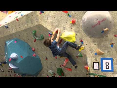 Henry climbing practice CityRock gym Colorado Springs