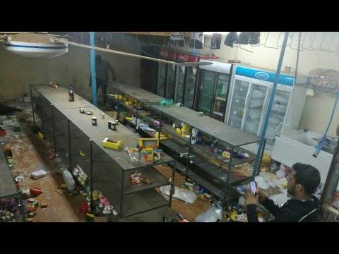 Super market got looted in klerksdorp, south Africa