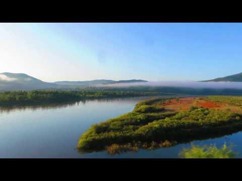 Вид из окна поезда - река Шилка (Нерчинский р-н, Забайкальский край)