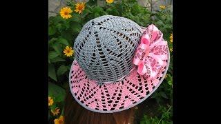 Летние вязаные шляпы крючком