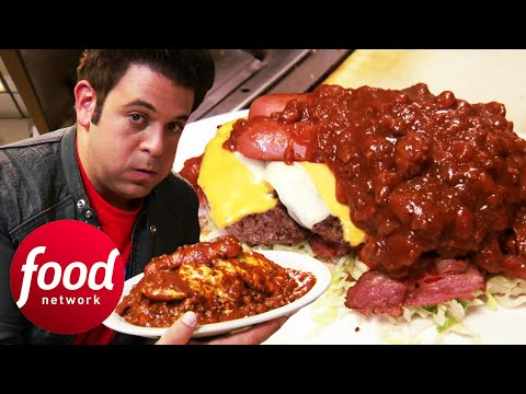 Adam Wrestles To Finish 6.5 Lbs Jonny B Good Challenge | Man V Food