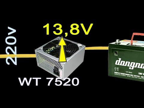độ Lại Bộ Nguồn Atx để Làm Bộ Sạc Acquy 12v, Convert Power Supply To Battery Charger