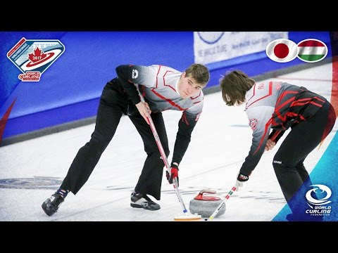 Japan v Hungary - Round-robin - World Mixed Doubles Curling Championship 2017