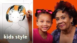 Girl Gives Her Grandma a Glittery Hair Makeover   Kids Style   HiHo Kids