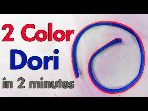 Making Two Color Dori (Piping) | Very Easy Method | BST