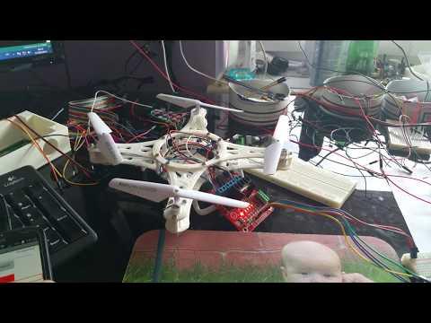 Premier test du drone Arduino - test du code de programmation et des composants electronique