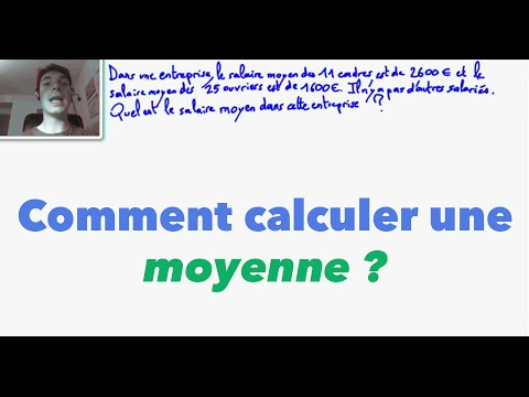 2nde comment calculer une moyenne youtube. Black Bedroom Furniture Sets. Home Design Ideas