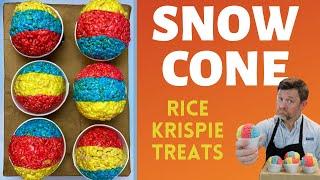 How to Make SNOW CONE Rice Krispie Treats!