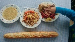 CÓMO HACER COCIDO de GARBANZOS Y SOPA CON FIDEOS Receta rápida olla express. Vídeo cocina para niños