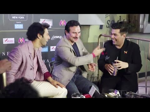 Karan Johar, Saif Ali Khan and Varun Dhawan MOST FUNNY Interview With Media