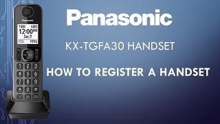 Panasonic telephone KX-TGFA30 - How to register a handset