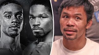 Manny Pacquiao BREAKS DOWN Errol Spence v Shawn Porter FIGHT