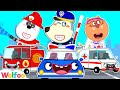 Wolfoo's Super Rescue Team with Rescue Cars: Fire Truck, Police Car, Ambulance | Wolfoo Channel