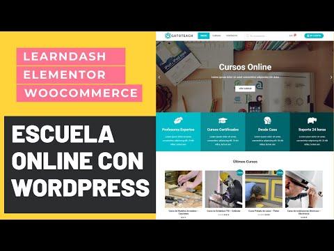 Crea una Academia Online en WordPress con Learndash y Elementor Completo 2021