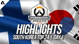 Finland Vs South Korea | Overwatch World Cup 2018 Incheon Qualifier Day 1