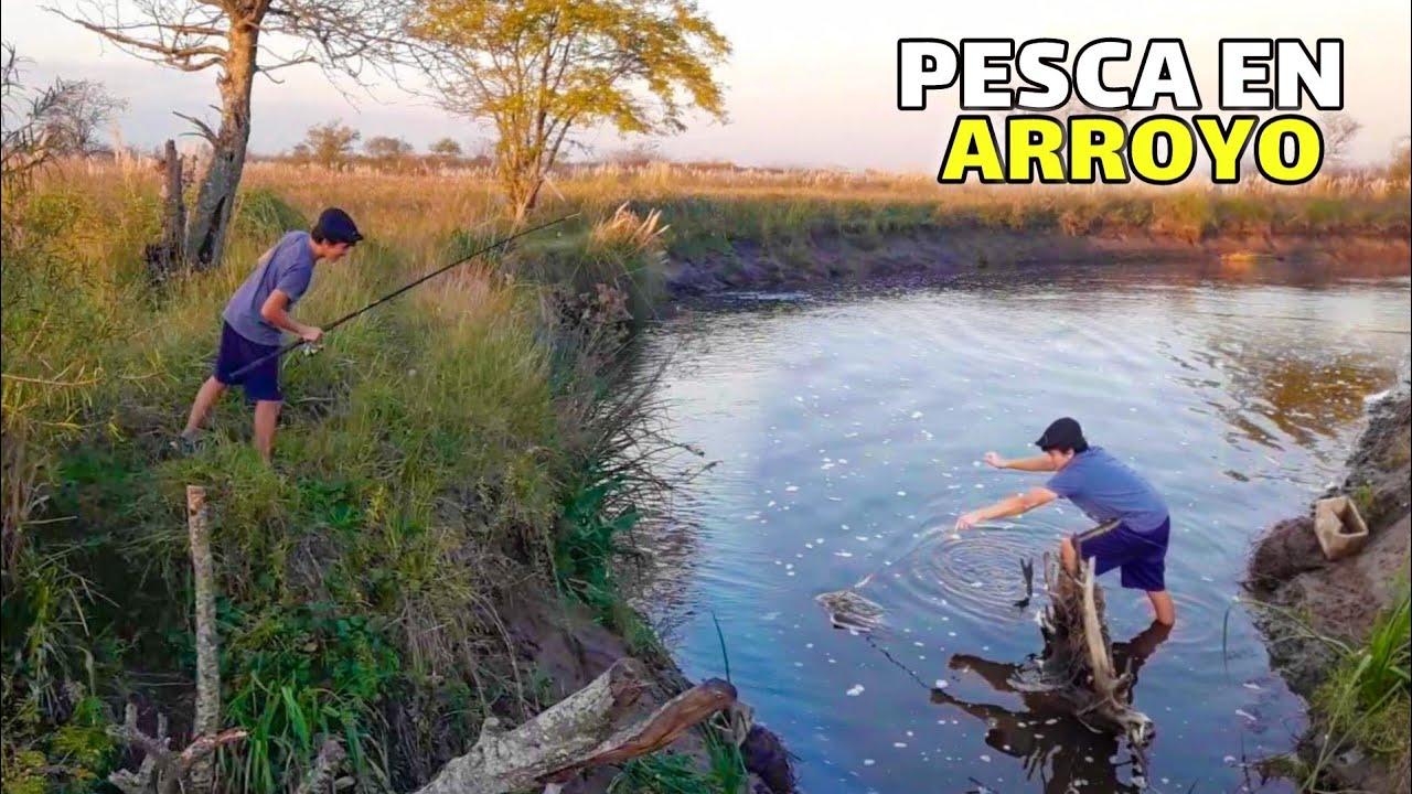 PESCA en RÍO LUJÁN / Campo, Barro, Arroyo
