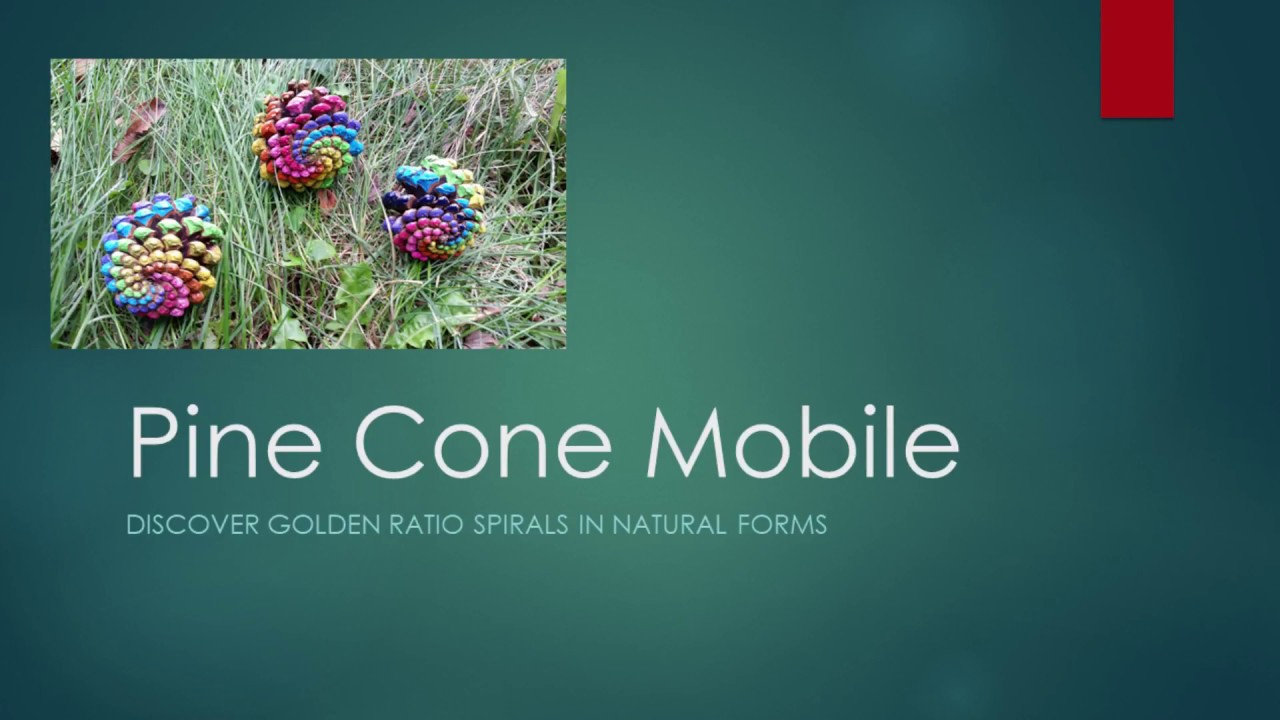 pine cone mobile art project youtube