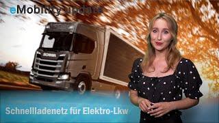 eMobility update: Schnellladenetz für Elektro-Lkw, e.GO Life Produktion, EnBW baut Megaladepark, VW.
