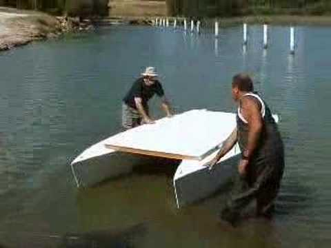 My Stitch & Glue Pontoon Boat - YouTube