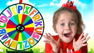 Alphabet magic spin with animation words #4 - Letters D, E, R