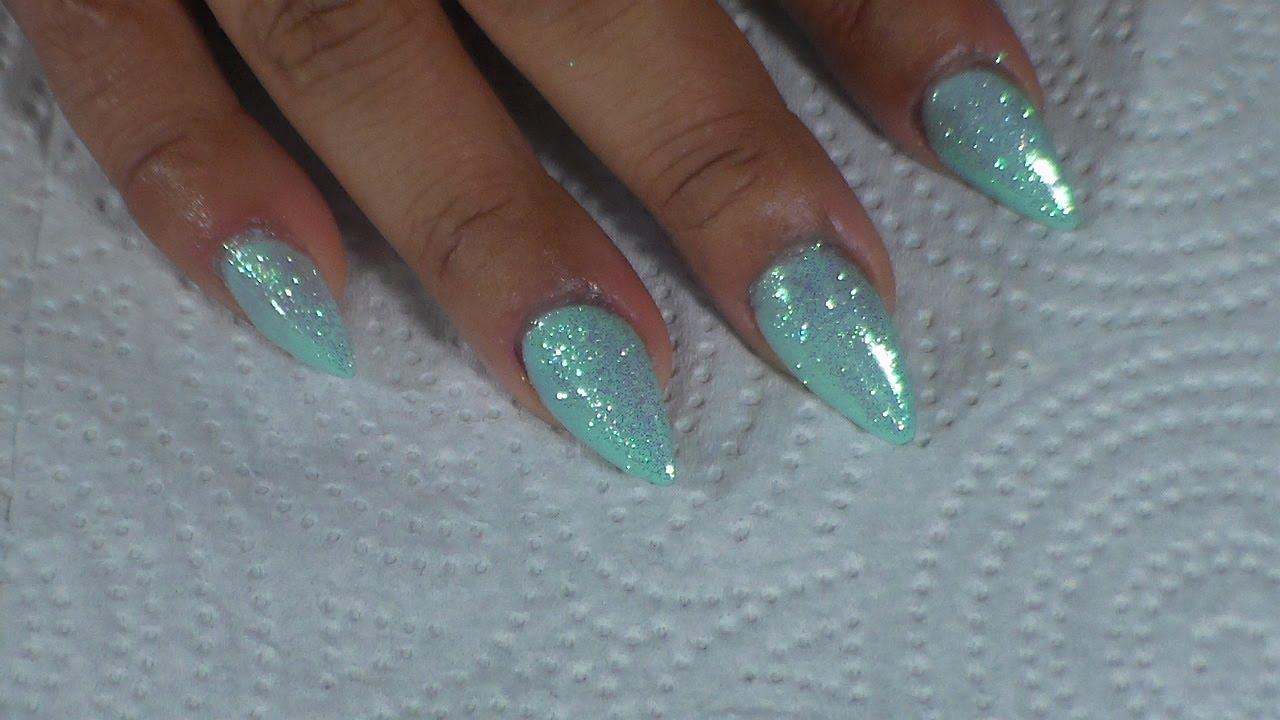 Uñas efecto Sirena facil y rapido /mermaid nails 2016 - YouTube