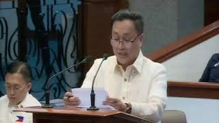 Privilege Speech of Senator Francis Tolentino on water concessionaires in the Philippines