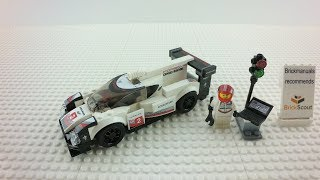 75887 LEGO® Speed Champions Porsche 919 Hybrid  Build Review 4K by Brickmanuals