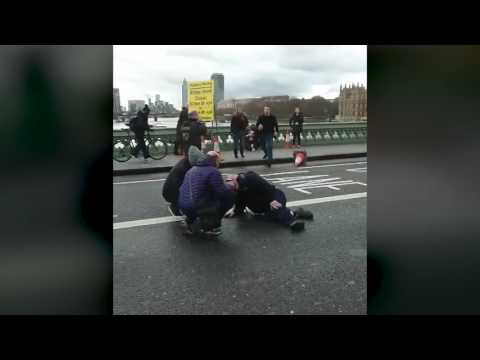 Raw video shows aftermath of two incidents near the British parliament