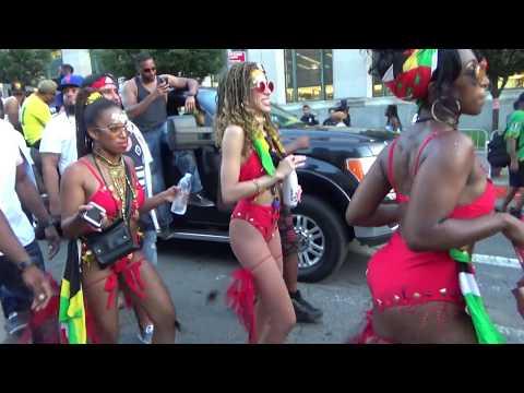 WEST INDIAN CARIBBEAN CARNIVAL BROOKLYN 2018 - CARIBBEAN ISLANDS GIRLS DANCE AT CARNIVAL