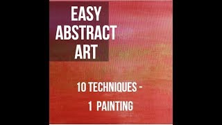 Easy Acrylic Painting Tutorial - 10 Techniques for Beginners - BALI SUNRISE