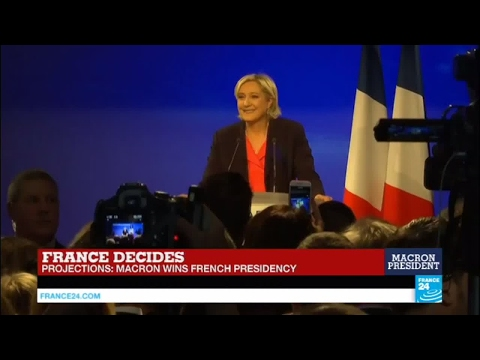 France Presidential Election: Defeated Marine Le Pen addresses supporters