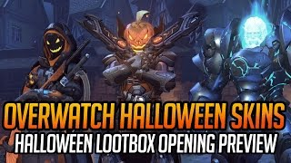 All Overwatch Halloween Skins Preview + Lootbox Opening