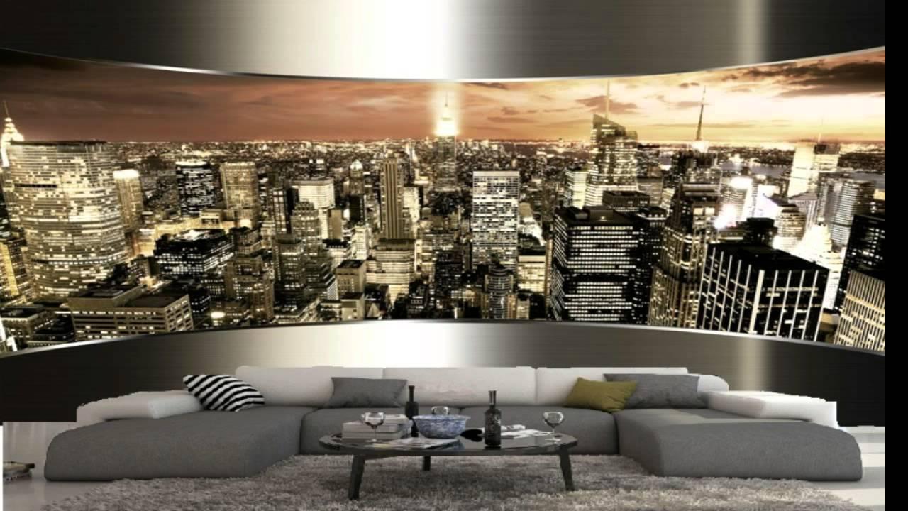 papier peint 3d moderne design